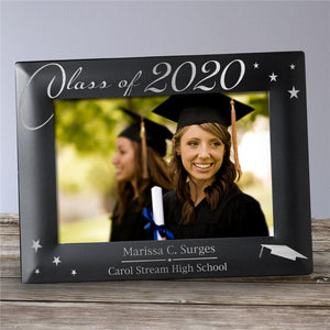 Engraved Black Graduation Picture Frame-Personalized Gifts