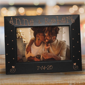 Engraved Couples Black Frame-Personalized Gifts