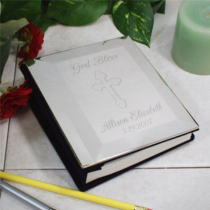 Engraved Cross Silver Photo Album-Personalized Gifts
