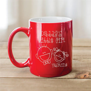 Engraved Daddy's Little Girl Two-Tone Mug-Personalized Gifts