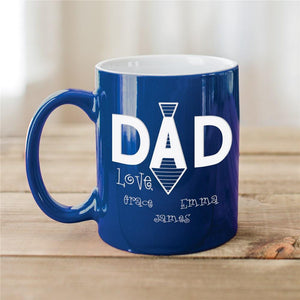 Engraved Dad's Tie Two-Tone Mug-Personalized Gifts