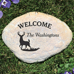 Engraved Deer Garden Stone-Personalized Gifts