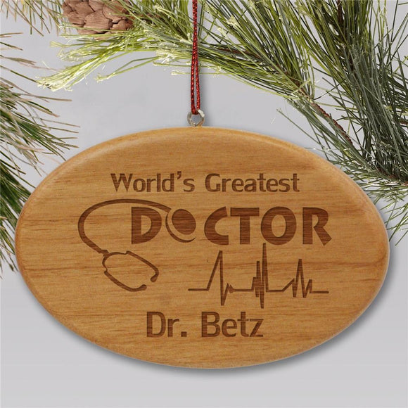Engraved Doctor Holiday Ornament-Personalized Gifts