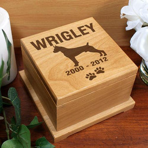 Engraved Dog Breed Pet Memorial Urn-Personalized Gifts