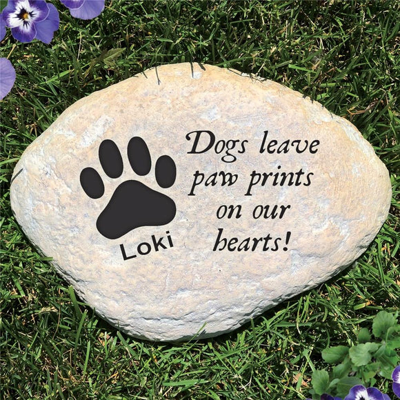 Engraved Dog Sympathy Garden Stone-Personalized Gifts