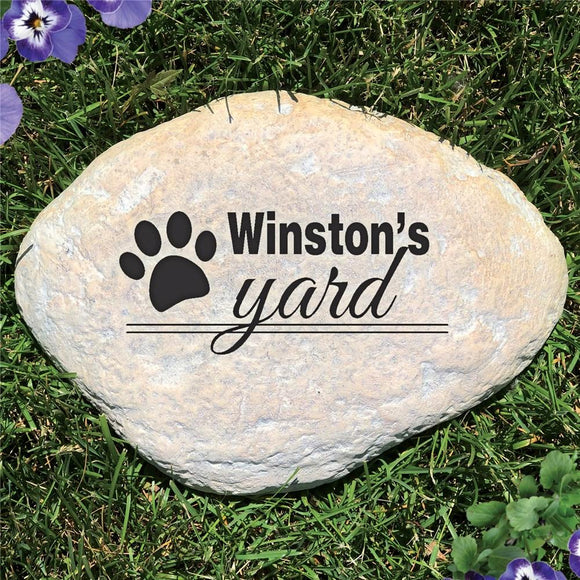 Engraved Dog's Yard Garden Stone-Personalized Gifts