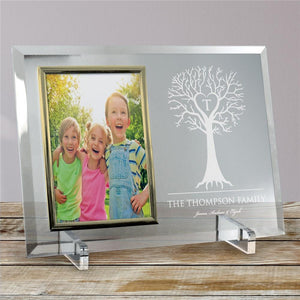 Engraved Family Tree Beveled Glass Frame-Personalized Gifts