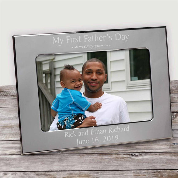 Engraved Father's Day Silver Frame-Personalized Gifts