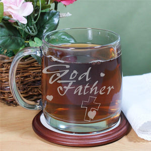 Engraved Godfather Glass Mug-Personalized Gifts