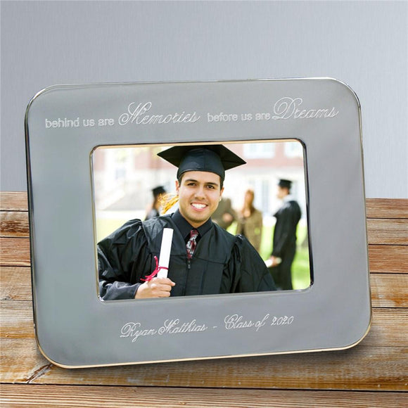 Engraved Graduation Silver Picture Frame-Personalized Gifts