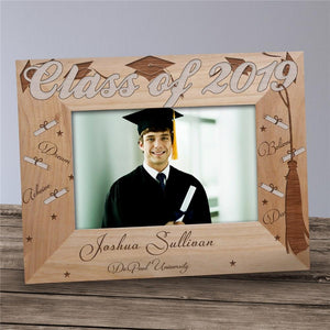 Engraved Graduation Wood Picture Frame-Personalized Gifts