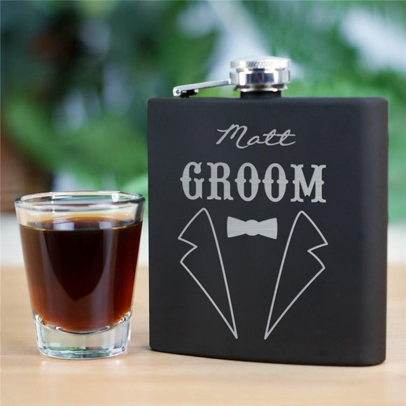Engraved Groomsmen Flask-Personalized Gifts