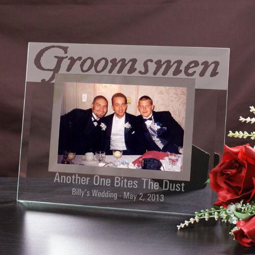 Engraved Groomsmen Glass Picture Frame-Personalized Gifts