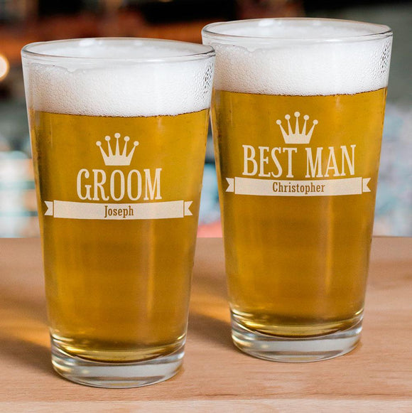 Engraved Groomsmen Glass-Personalized Gifts