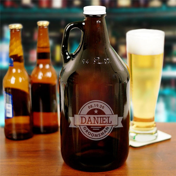 Engraved Groomsmen Growler-Personalized Gifts