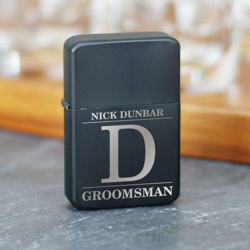 Engraved Groomsmen Lighter-Personalized Gifts