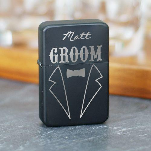 Engraved Groomsmen tuxedo Lighter-Personalized Gifts