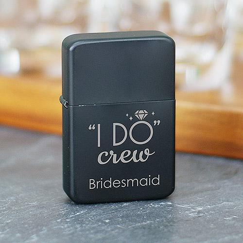 Engraved I Do Crew Lighter-Personalized Gifts
