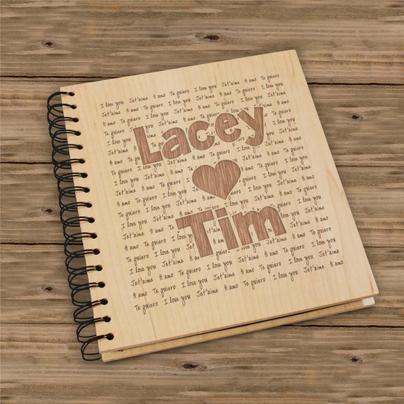 Engraved I Love You Photo Album-Personalized Gifts