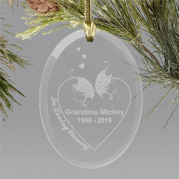 Engraved In Loving Memory Holiday Ornament-Personalized Gifts