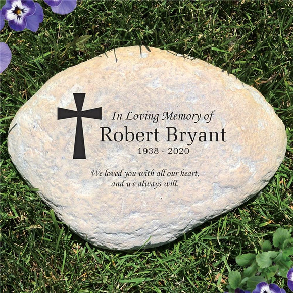 Engraved In Memory of Garden Stone-Personalized Gifts