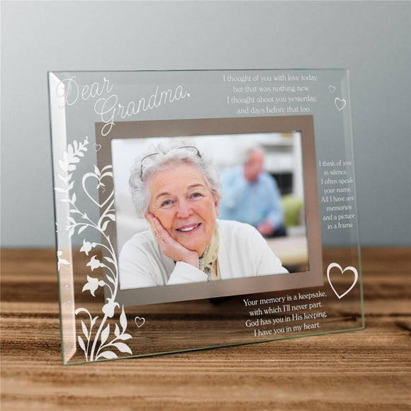 Engraved In Memory Of Glass Picture Frame-Personalized Gifts