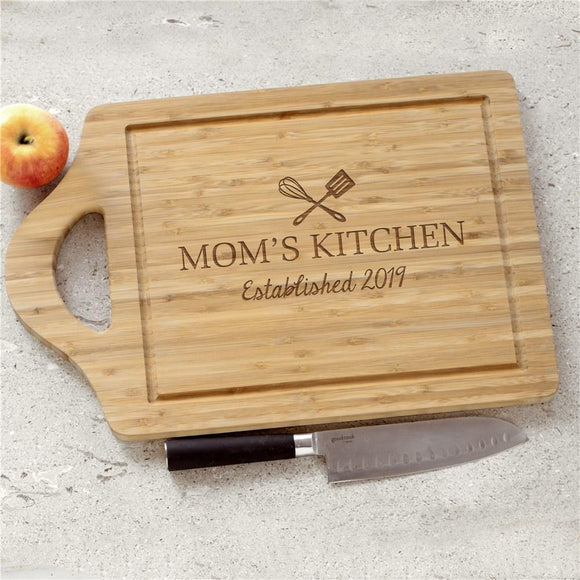 Engraved Moms Kitchen Cutting Board-Personalized Gifts