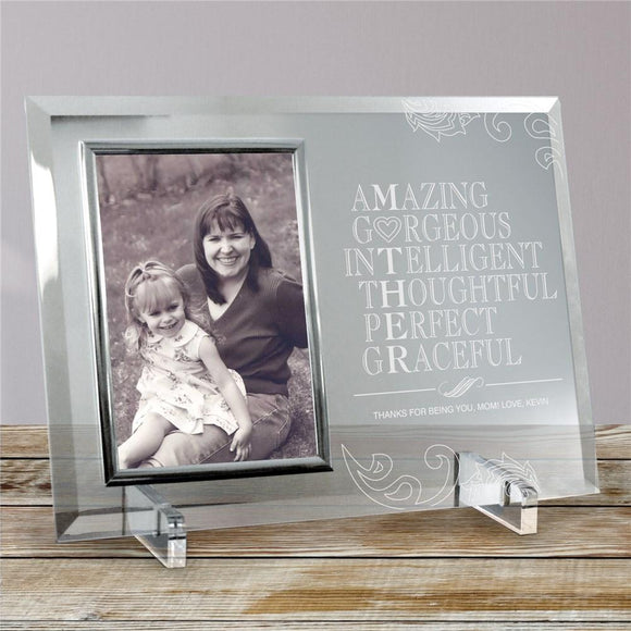 Engraved Mother Glass Picture Frame-Personalized Gifts
