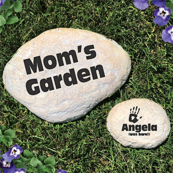 Engraved My Garden Yard Stone-Personalized Gifts