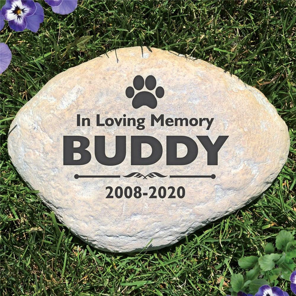 Engraved Pet Memorial Garden Stone-Personalized Gifts