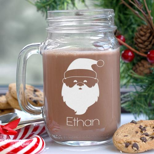 Engraved Santa Mason Jar-Personalized Gifts