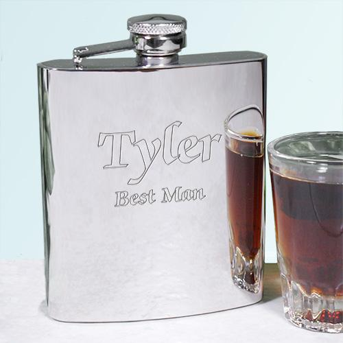 Engraved Silver Flask-Personalized Gifts