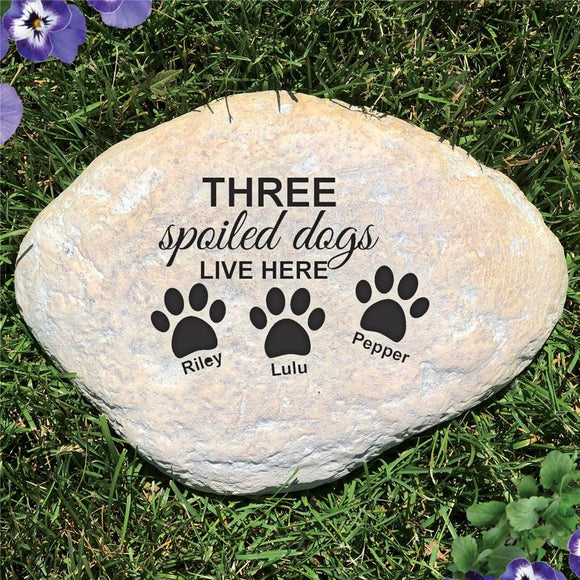 Engraved Spoiled Dog Garden Stone-Personalized Gifts