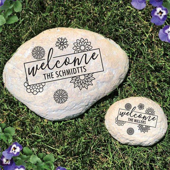 Engraved Welcome Garden Stone-Personalized Gifts