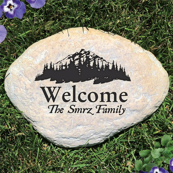 Engraved Woodland Garden Stone-Personalized Gifts