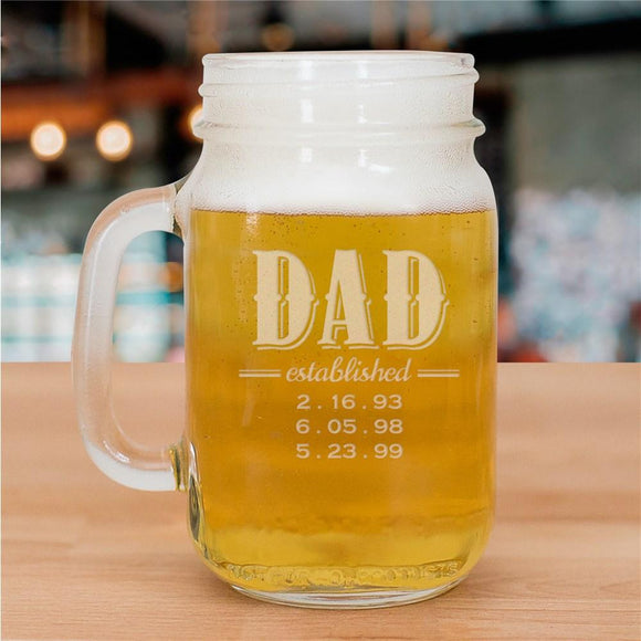 Established Mason Jar-Personalized Gifts