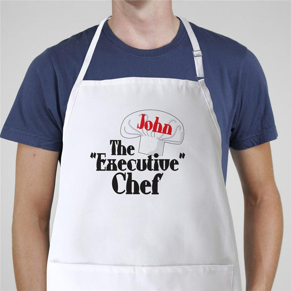 Executive Chef Apron-Personalized Gifts