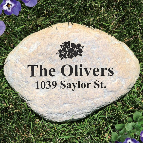 Family Address Engraved Garden Stone-Personalized Gifts