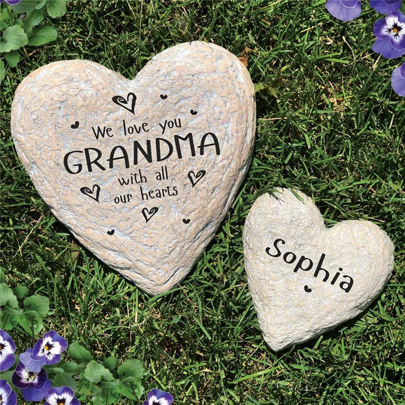 Family Heart Garden Stone-Personalized Gifts