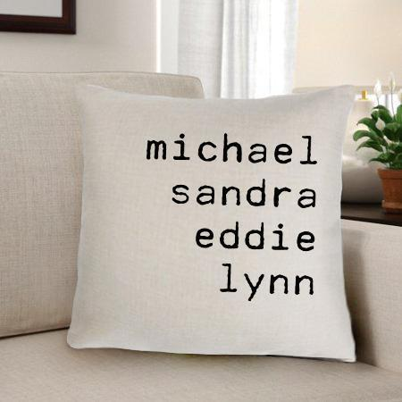 Family Names Personalized Throw Pillow-Personalized Gifts