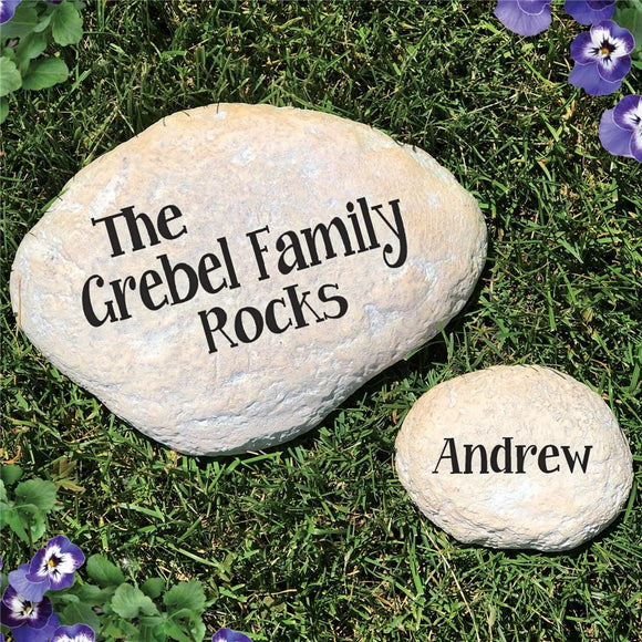 Family Rocks Engraved Yard Stones-Personalized Gifts
