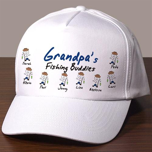 Fishing Buddies Personalized Hat-Personalized Gifts