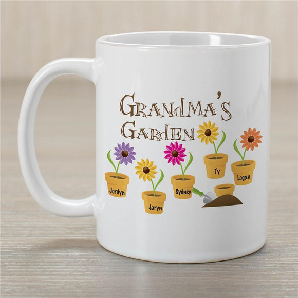 Flower Personalized Coffee Mug for Grandma-Personalized Gifts