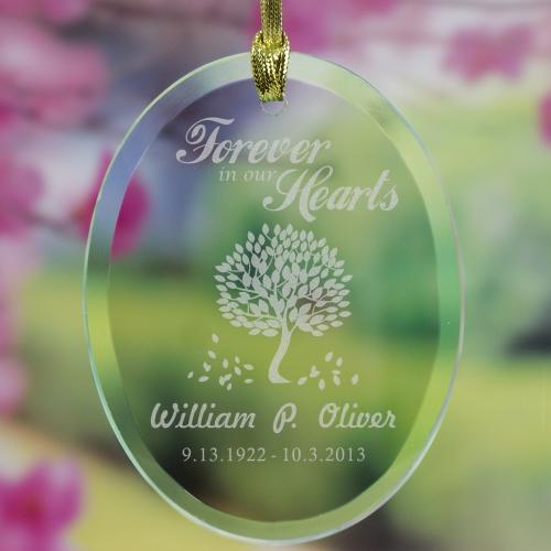 Forever In Our Hearts Memorial Ornament-Personalized Gifts