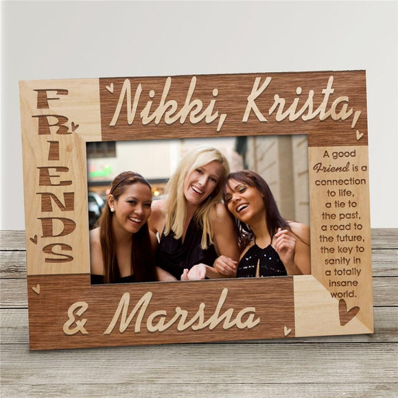Friends Personalized Wooden Picture Frame-Personalized Gifts
