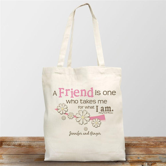 Friendship Personalized Canvas Tote Bag-Personalized Gifts