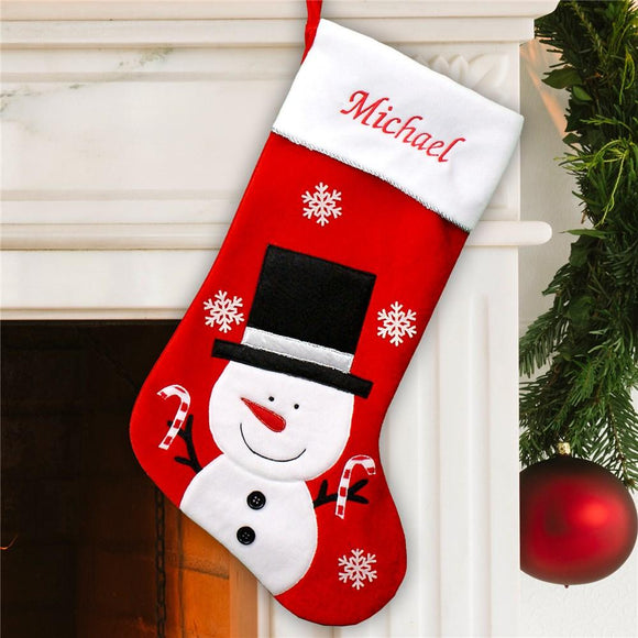 Frosty Velvet Christmas Stocking-Personalized Gifts