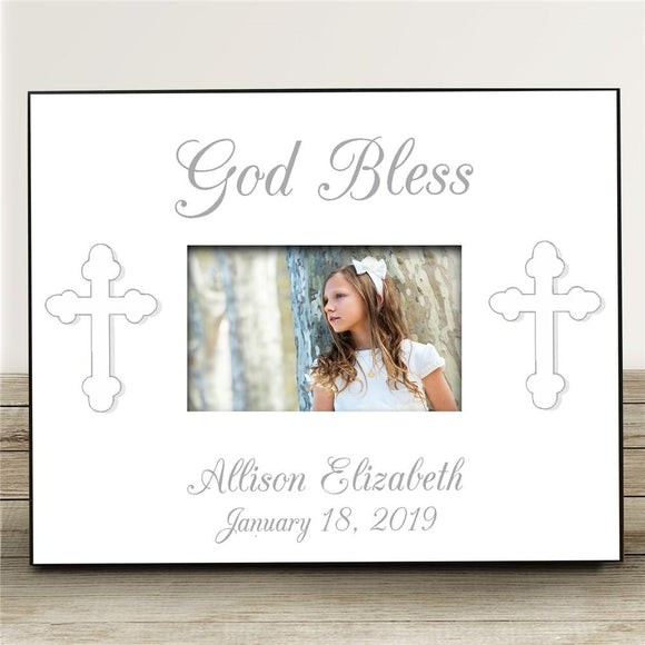 God Bless... Personalized Baptism Frame-Personalized Gifts