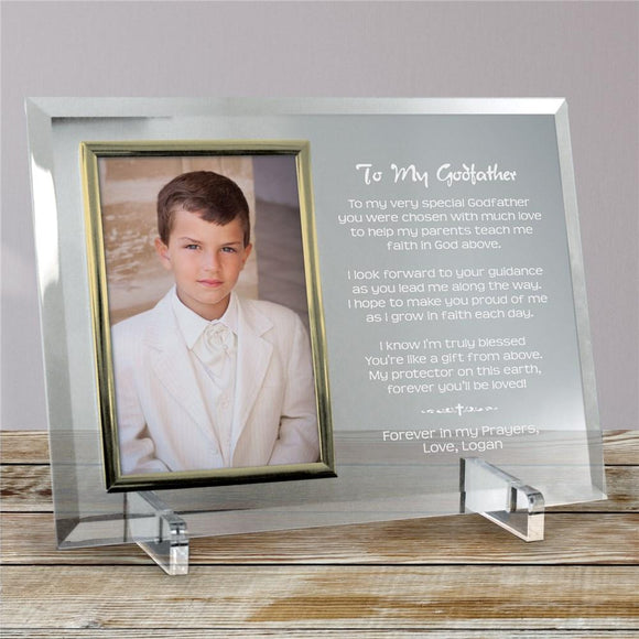 Godfather Personalized Beveled Glass Frame-Personalized Gifts