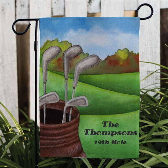 Golf Garden Personalized Flag-Personalized Gifts